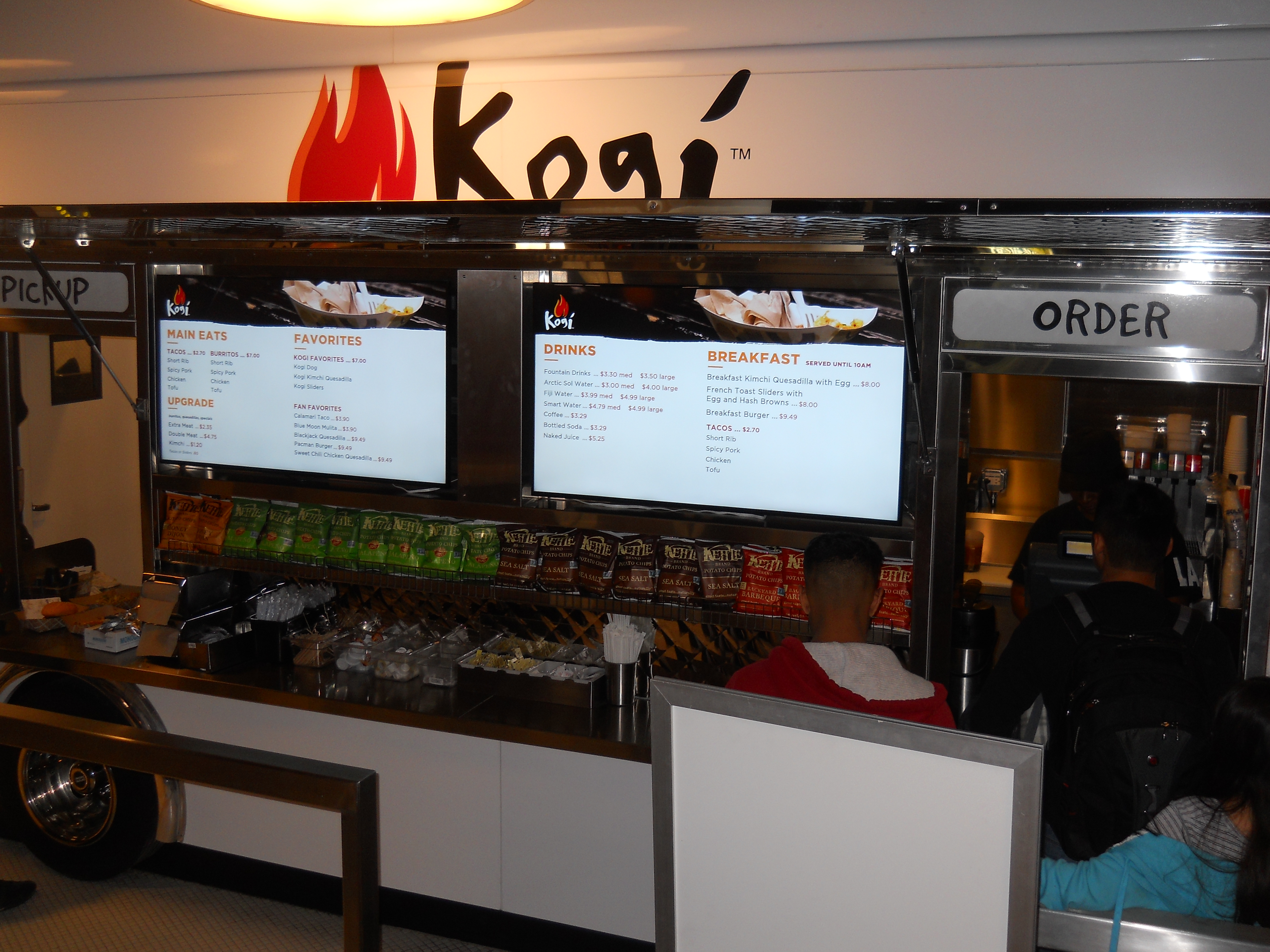 Preferred Kogi BBQ Opens at LAX with Digital Menu Boards | OSM Solutions OC66