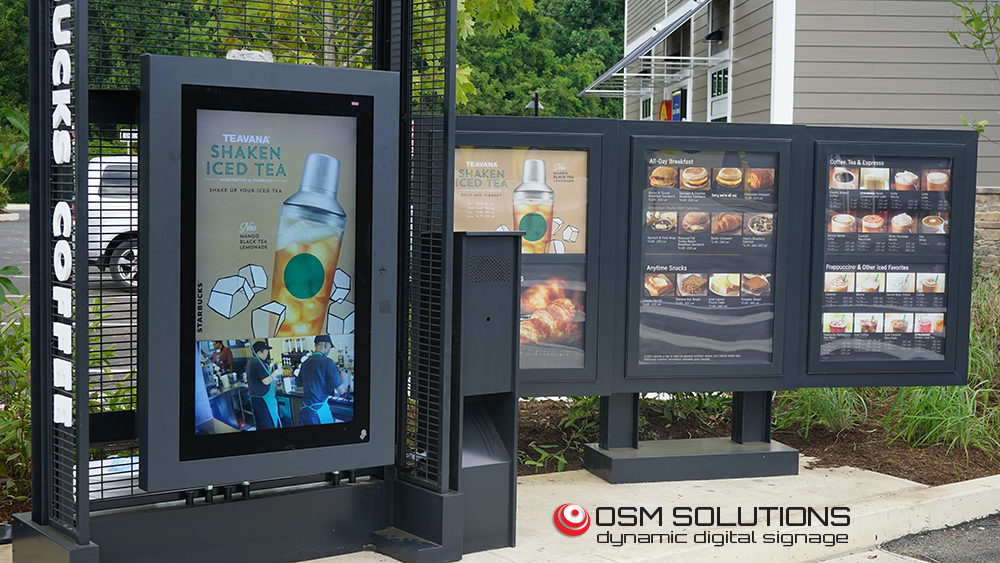 OSM Solutions provides drive-thru digital menuboard for Starbucks, PA Valley Forge Travel Plaza