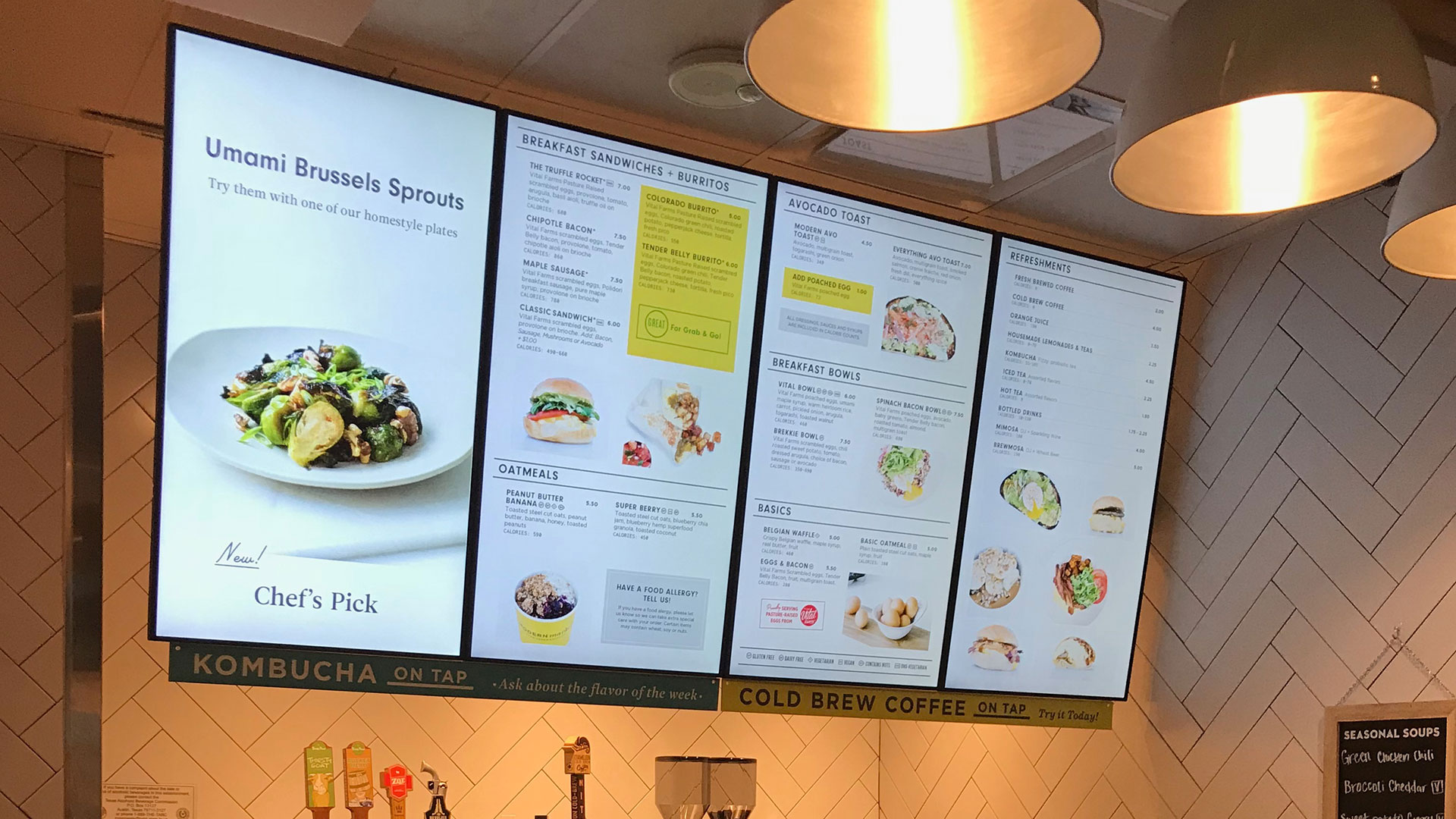 Modern Market Menu Boards Powered by Menuboard Manager®