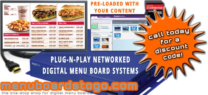 Brightsign and menuboardstogo.com Press Release