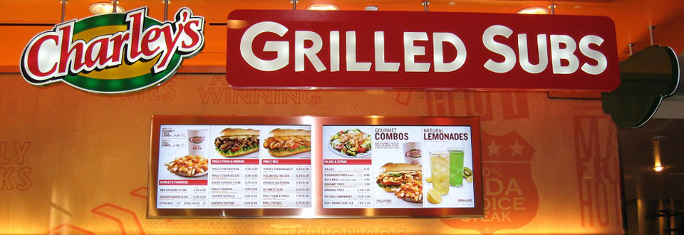 OSM Solutions deploys 65″ digital menu boards at Charley's Grilled Subs Westfield San Francisco Centre
