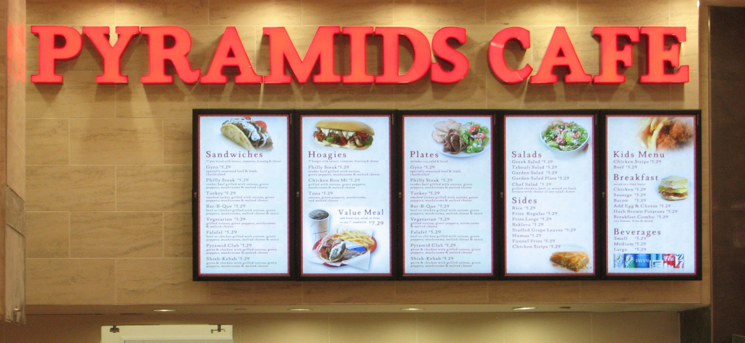 osm solutions designs & installs 5-panel digital menu board system
