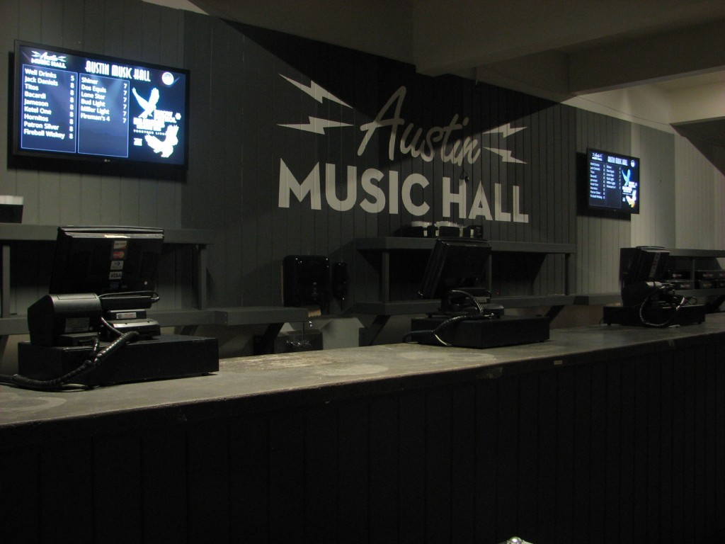 Austin Music Hall Digital Signage