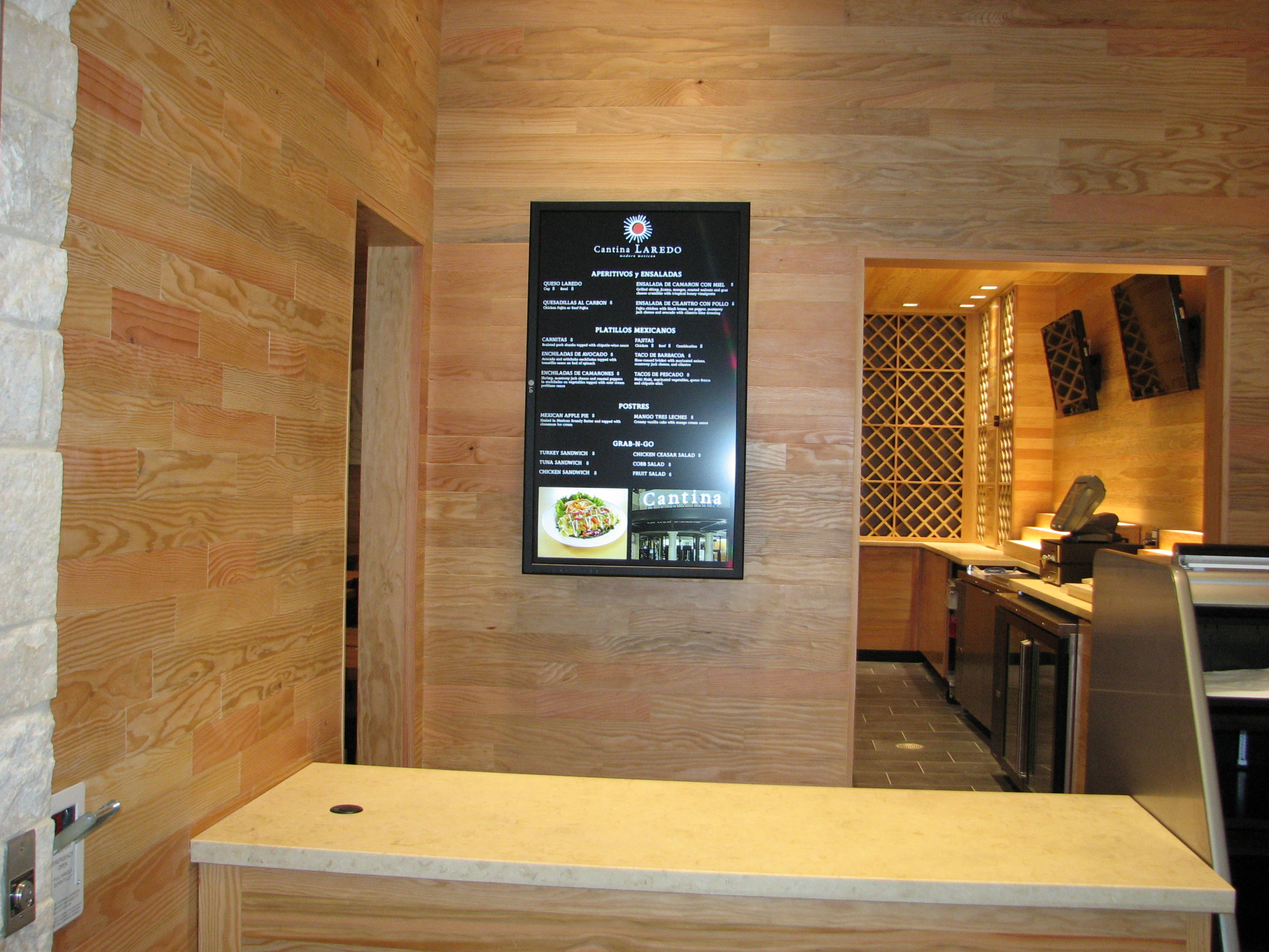 "OSM Solutions adds digital menu board to Cantina Laredo ""To Go"" counter at new Dallas Love Field Terminal"