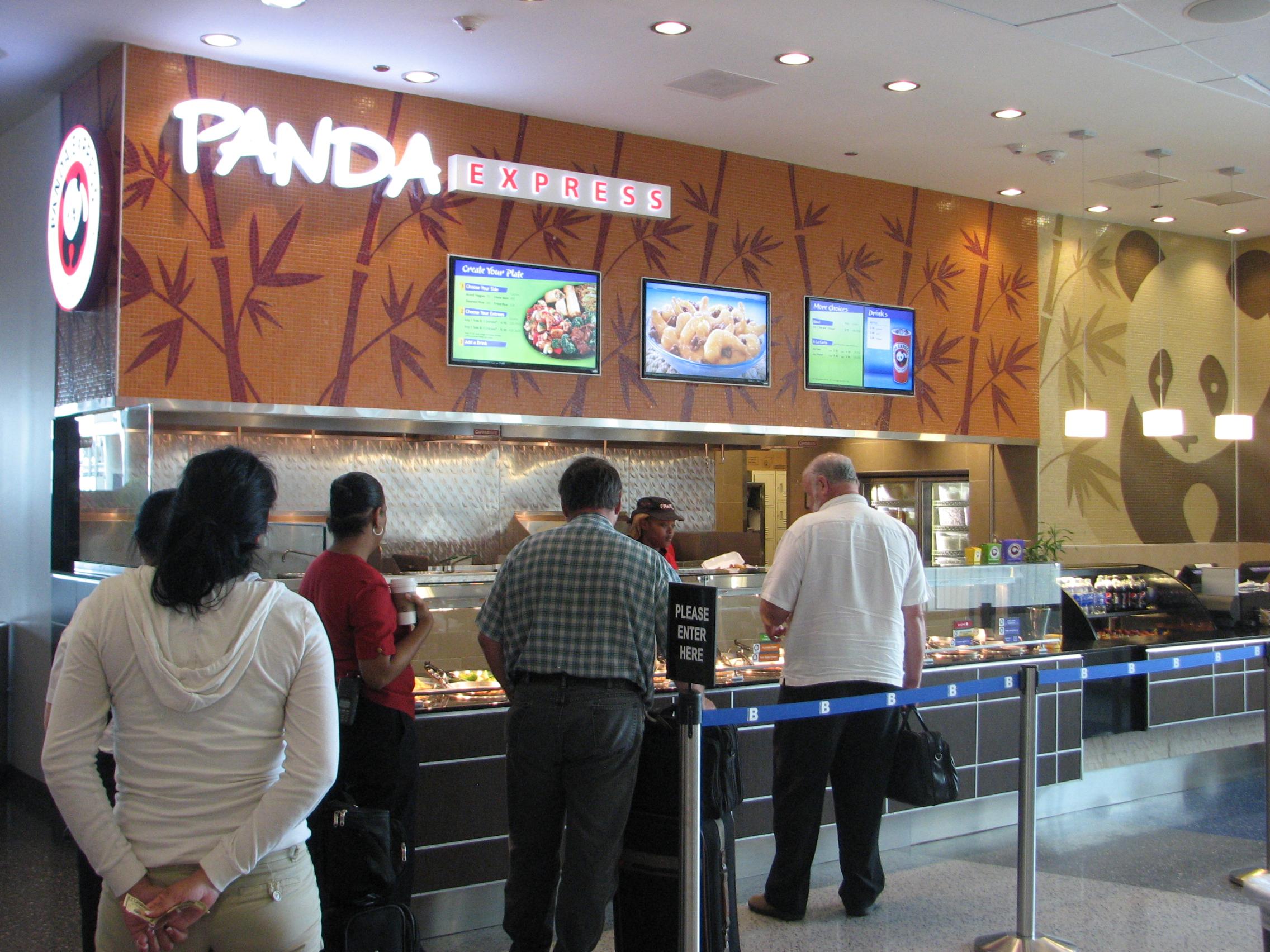 OSM Solutions installs 3 digital menu boards at new Panda Express Houston IAH B Terminal South