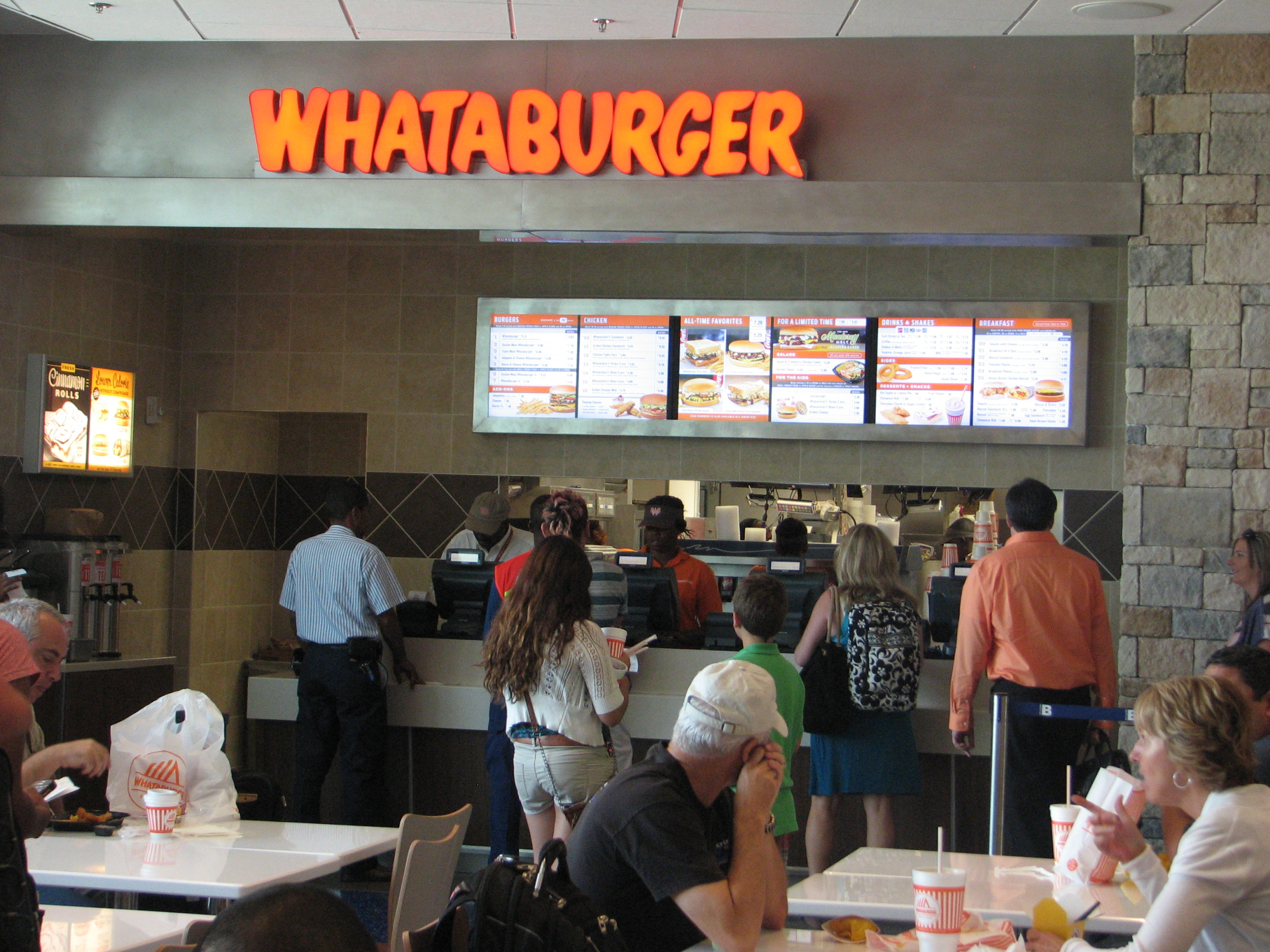 OSM Solutions provides digital menu board system for Whataburger Houston IAH Terminal B South