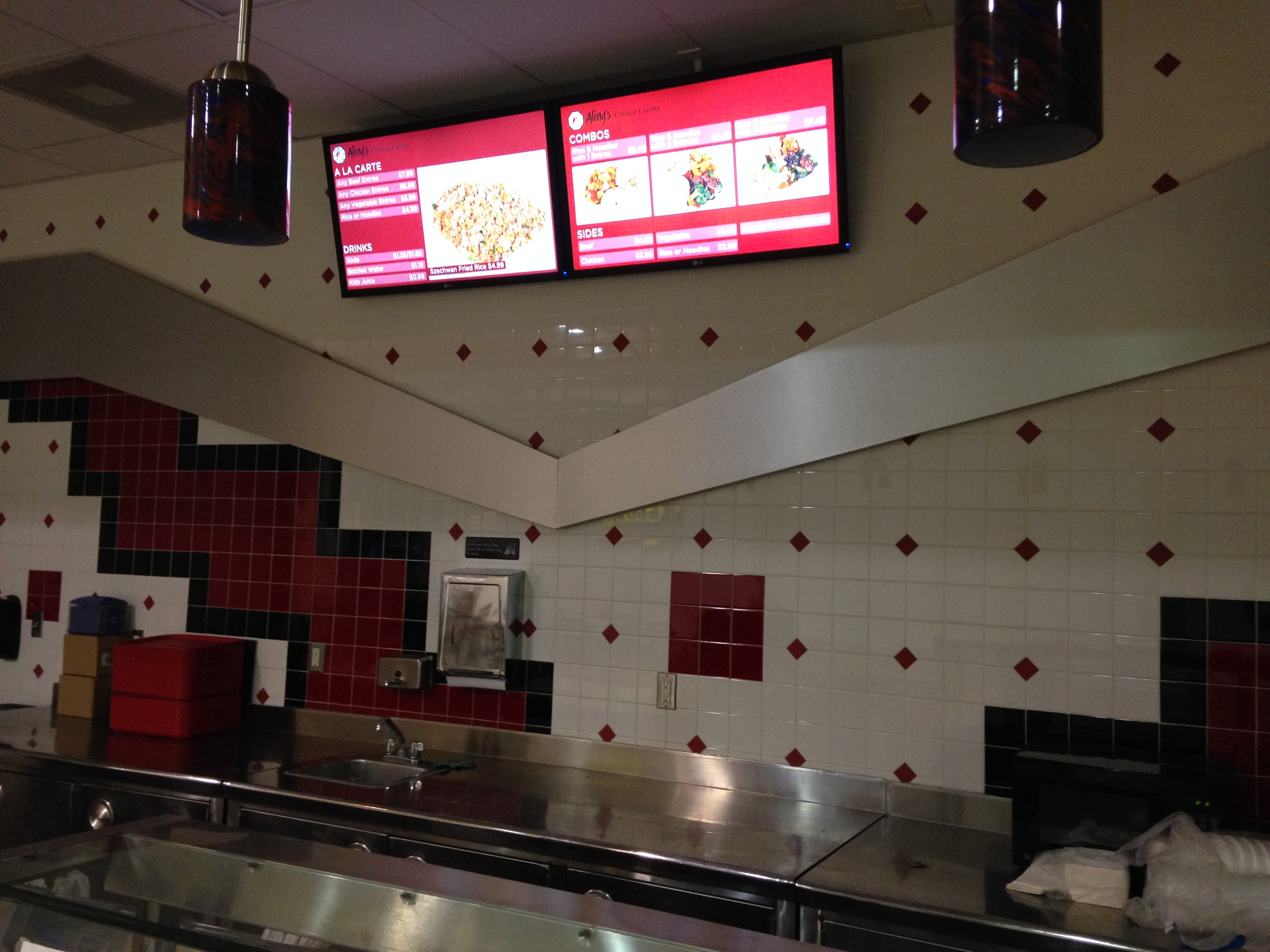 Digital Menu Board System installed at Aling's in Victoria Mall