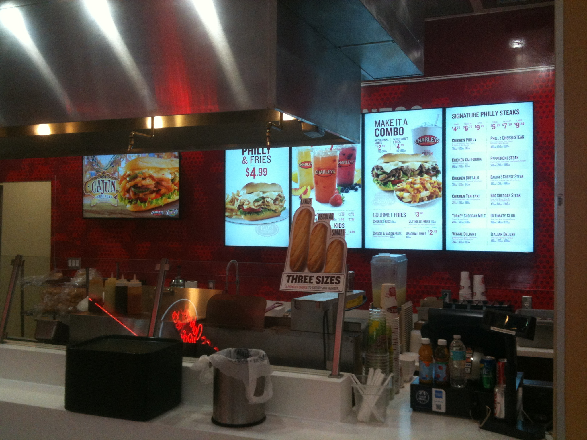 Digital Menu Boards installed at Charley's in Miami International Mall